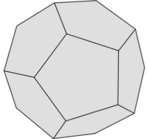 Graue Form: Dodekaeder